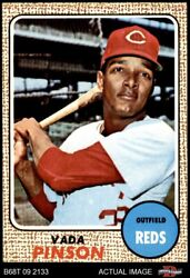 1968 Topps 90 Vada Pinson Reds 8 - Nm/mt