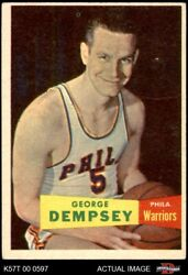 1957 Topps 60 George Dempsey Warriors The Kingand039s College 4 - Vg/ex