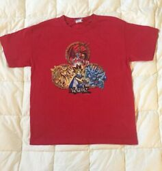 Vintage Kids Yugioh 90's Red T Shirt Size M Shadow Realm