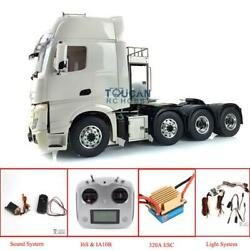 Lesu 1/14 Rc Tractor Truck Metal Chassis 88 Hercules Mercedes Cabin Sound Motor