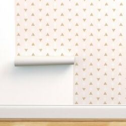 Peel-and-stick Removable Wallpaper Arrows Co Geometric Baby Pink Arrow Modern