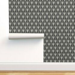 Peel-and-stick Removable Wallpaper Black Arrow Line