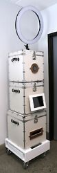 Photo Booth White Trunks Custom Made Wedding Party Equipment Can Fit Inside Car