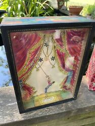 Vintage Rare Famous Yootha Rose Sand Acrobat Handcrafted Shadowbox Toy