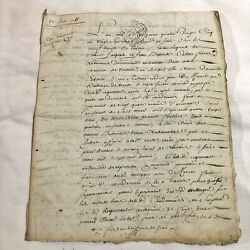Authentic Multi-page 1783 Paper French Manuscript Legal Document Old Handwritten