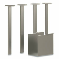 Coz E Table Legs 5.75 X 28 Silver 4 Per Pack | 1 Pack Of 4