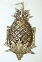 Antique Vintage Style Brass Pineapple Door Knocker Colonial Early American