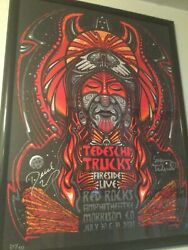 Autographed Tedeschi Trucks Band Poster 2021 Red Rocks Jeff Wood Andrsquoed And Signed