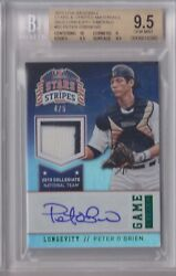 2015 Usa Stars And Stripes Peter O'brien Patch Autograph /5 Bgs 9.5 10 Auto