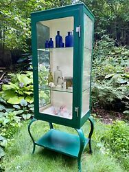 Gorgeous Turn Of The Century Era Medical/apothecary Cabinet W/ Queen Anne Legs
