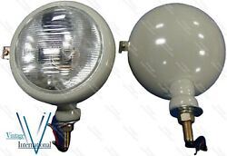 310066f Set Of 2 12v Gray Head Lamp Lights Fits For Ford 2n 8n 9n 600 800 New