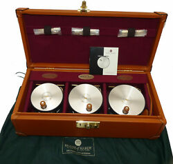 Hardy 1912 Perfect Ltd Ed 3 Reel Set In Leather Case With Bag Rhw No 132/250