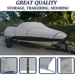 Gray Flex-fit Boat Cover Fits Euro V-hull Cuddy Cabin I/o Up To 26and039 X 108