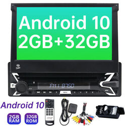 7 Android 10 Single 1din Car Stereo Radio Gps Wifi Dvd Player Touch Screen Cd