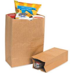8.25 X 5.93 X 13.37 Inches Kraft Brown Grocery Paper Mailer Bags - 5000 Pack