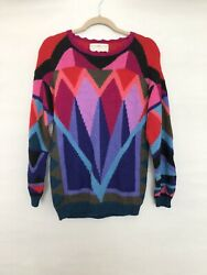 Vintage Peruvian Connection Geometric Alpaca Sweater Size S Womenand039s