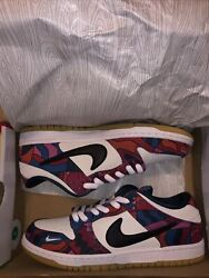 Nike Sb Dunk Low Pro Parra Abstract Art Size 10.5 Brand New In Hand Fast Ship