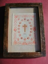 Christian Framed Reliquary 1800s 19 Relics Passion Jesus Christ Holy Family