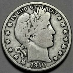 1910-s Barber Half Dollar Us Silver 50c Coin Flat Rate Shipping Lot 218