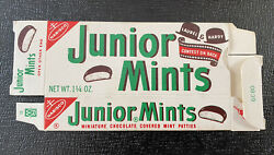 1972 Junior Mints Complete Box Laurel And Hardy Uncut Card 11 Vintage Candy And