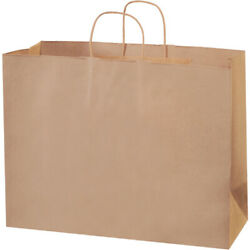 Kraft Brown Paper Mailers Shopping Bags W/ Handles, 16 X 6 X 12 - 1000 Pack