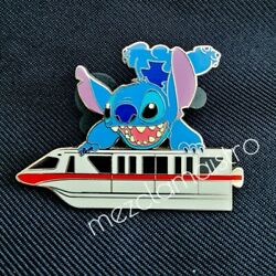 Rare Ap Disney Stitch On Monorail Pin Gold Card Le 20 Artist Proof 73625