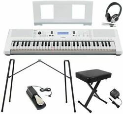 New Yamaha Ez-300 Stand / X Chair / Headphone / Pedal Set Keyboard From Japan