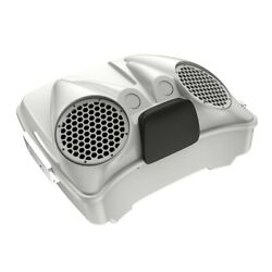 Stone Washed White Pearl Dual 8and039and039 Speaker Lids Fits Advanblack/harley Tour Pack