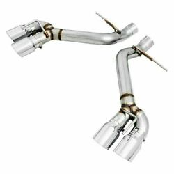 Awe Track Edition Cat-back Exhaust Non-res Chrome Silver Tips For 16-21 Camaro