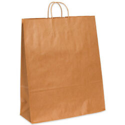 Kraft Brown Paper Mailer Shopping Bags With Handles 16 X 6 X 19.25 - 2000 Pack