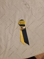 Vintage Mississippi Southern Button Ribbon Football Badge