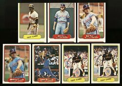 1982 Fleer 16 Cards 3-proof Strips Blank Back Labeled Test Cards 5-nnof 3-miscut