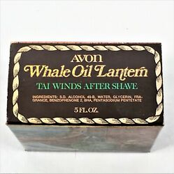 Avon After Shave.1974 Whale Oil Lantern-tai Winds Nwvb