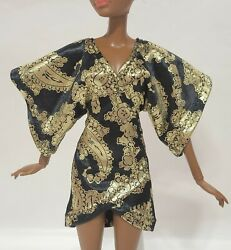 Kimono doll dress Handmade Clothes for doll 11.5in 12in $7.00