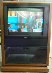 Vintage Rca Console Tv Home Theater Retro Gaming Television 27 1992