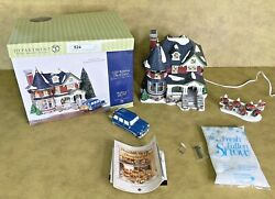 Dept 56 Snow Village 1224 Kissing Claus Lane Retired Animated And Musical Working
