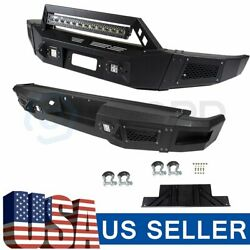 New Complete - Steel Front Rear Bumper Assembly For Ford F150 09-14 + Led Lights