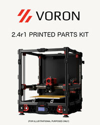 Voron 2.4r1 Printed Plastic Parts Kit Asa 50 Grid Infill Red Accent Usa Made