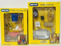 NIB Breyer Stable Feed amp; Cleaning Accessory Set Traditional 1:9 #2486 #2477