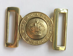 Colonial Singapore Police Force Belt Buckle Badge King Crown Straits Settlements