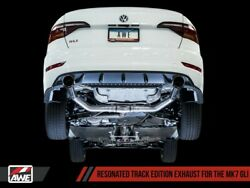 Awe Track Edition Exhaust Res Diamond Black Tips For 19-21 Vw Jetta Gli 2.0t