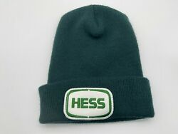 Vintage Hess Oil Gas Fuel Station Green Employee Beanie Hat No Tag Made In Usa