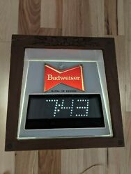 Vintage Working Budweiser Clock Part For Clydesdale Lighted Sign