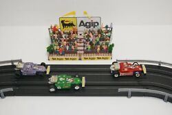 Ho Slot Car Scenery 5 Inch Bleacher Features Agip Gas Signage And 80 + People