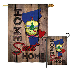 State Vermont Home Sweet-americana States Garden Yard Banner House Flag