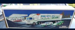 Hess Truck With 2 Race Cars 1997