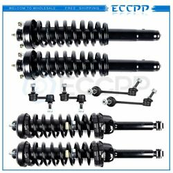 8pc Front Rear Complete Struts And Sway Bar End Links Fits 1997-2001 Honda Cr-v