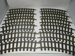 Lgb G-scale 1100 Curved Brass Track 30° R=600mm 12 Sections Nice Pre-owned