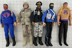 Gi Joe Soldier 12 Inch Action Figure Lot Of 5 Figures Ex Condition Backpack Tags