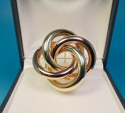 Genuine And Co 14k Rose And Green Gold Retro Love Knot Brooch Pin - 16.5gr